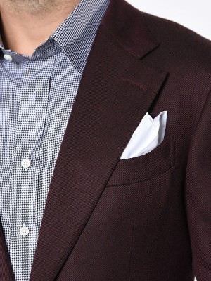 BORDEAUX LARGE TWILL SIGNATURE 2-BUTTON  SPORT COAT