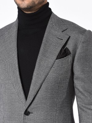 Grey Houndstooth Signature Bespoke Sport Coat