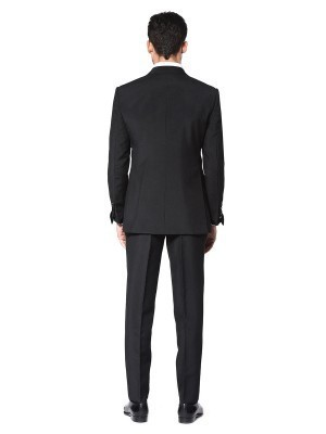 BLACK TONIK MOHAIR SIGNATURE SATIN 1-BUTTON TUXEDO