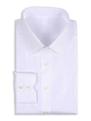 White Poplin Classic Collar Shirt