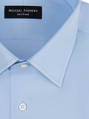 Light Blue Poplin Classic Collar Shirt