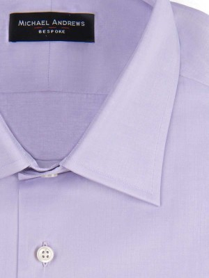 Ice Lavender Poplin Traditional Collar Shirt