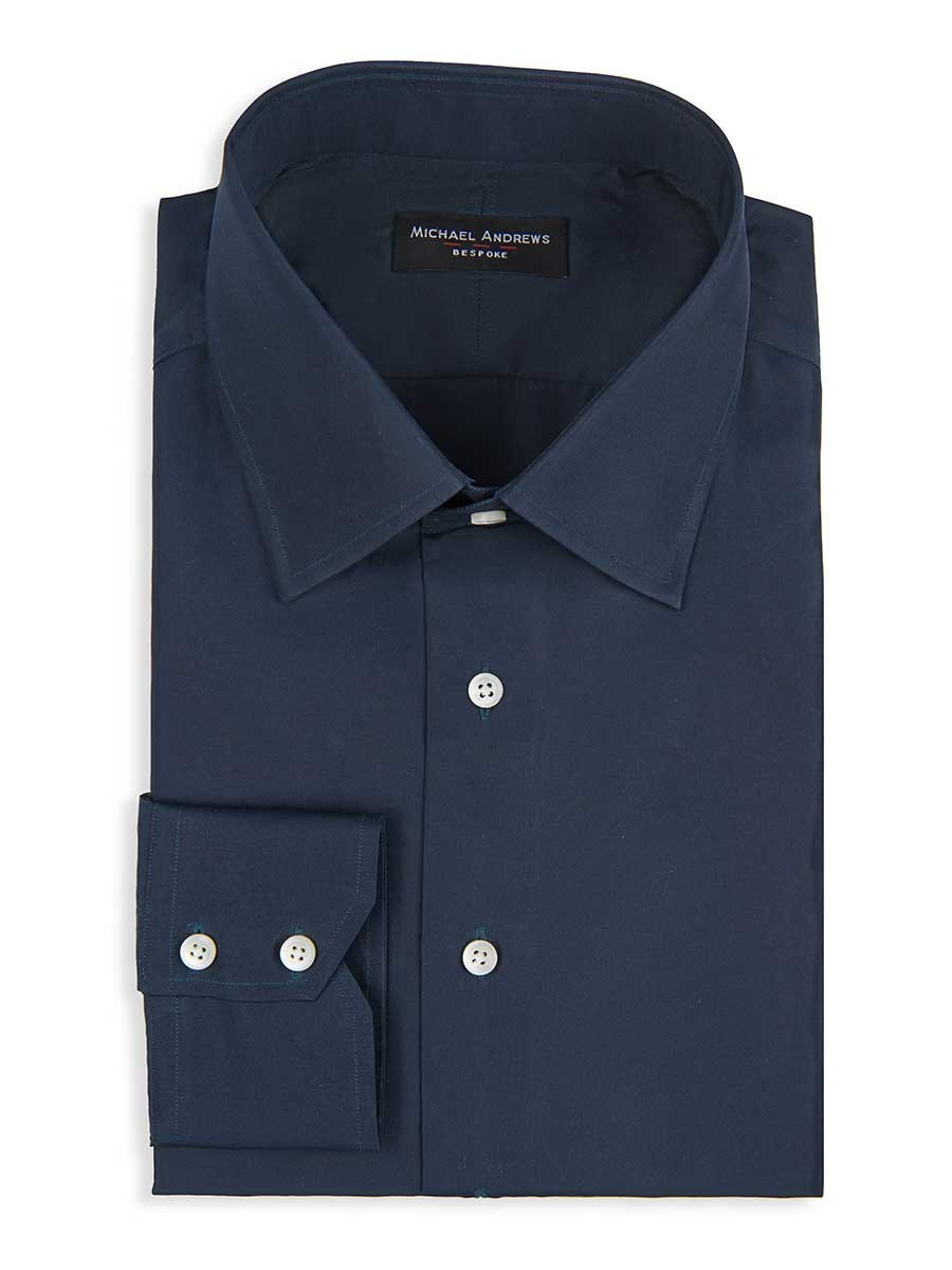 Navy Twill Classic Collar Shirt
