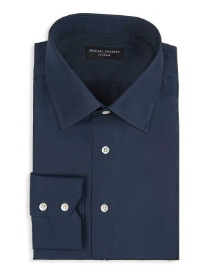NAVY TWILL TRADITIONAL COLLAR SHIRT