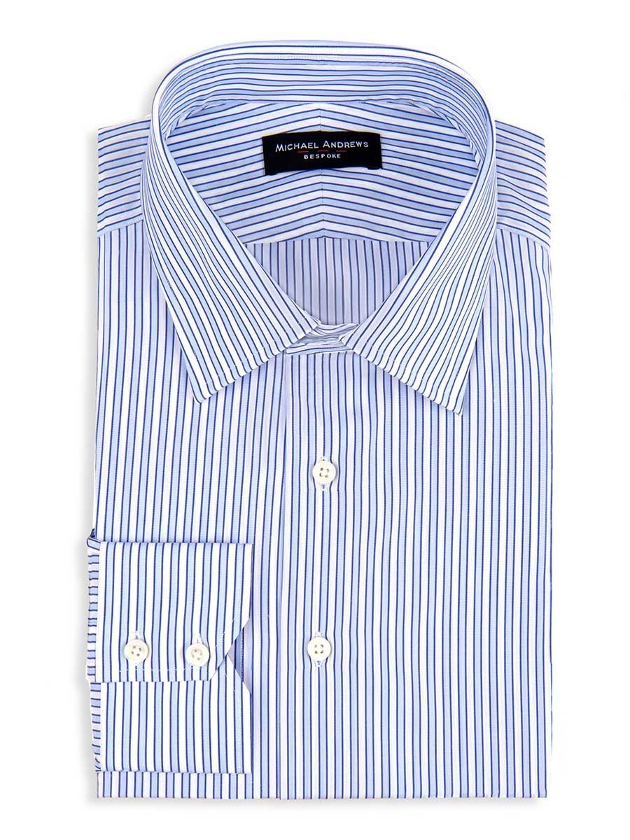 Blue Tonal Complex Stripe Classic Collar Shirt