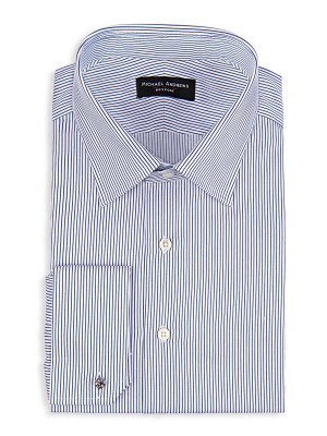BLUE THIN STRIPE CLASSIC COLLAR SHIRT