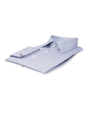 Blue Thin Strip Classic Collar Shirt