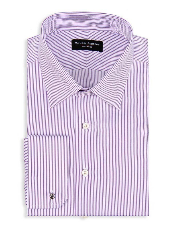 Purple Thin Stripe Classic Collar Shirt