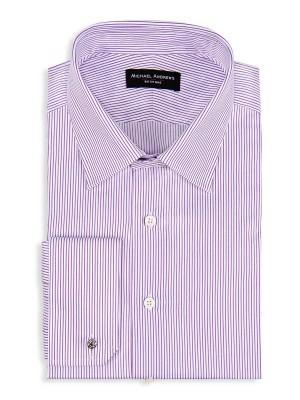 Purple Thin Stripe Classic Collar Shirt