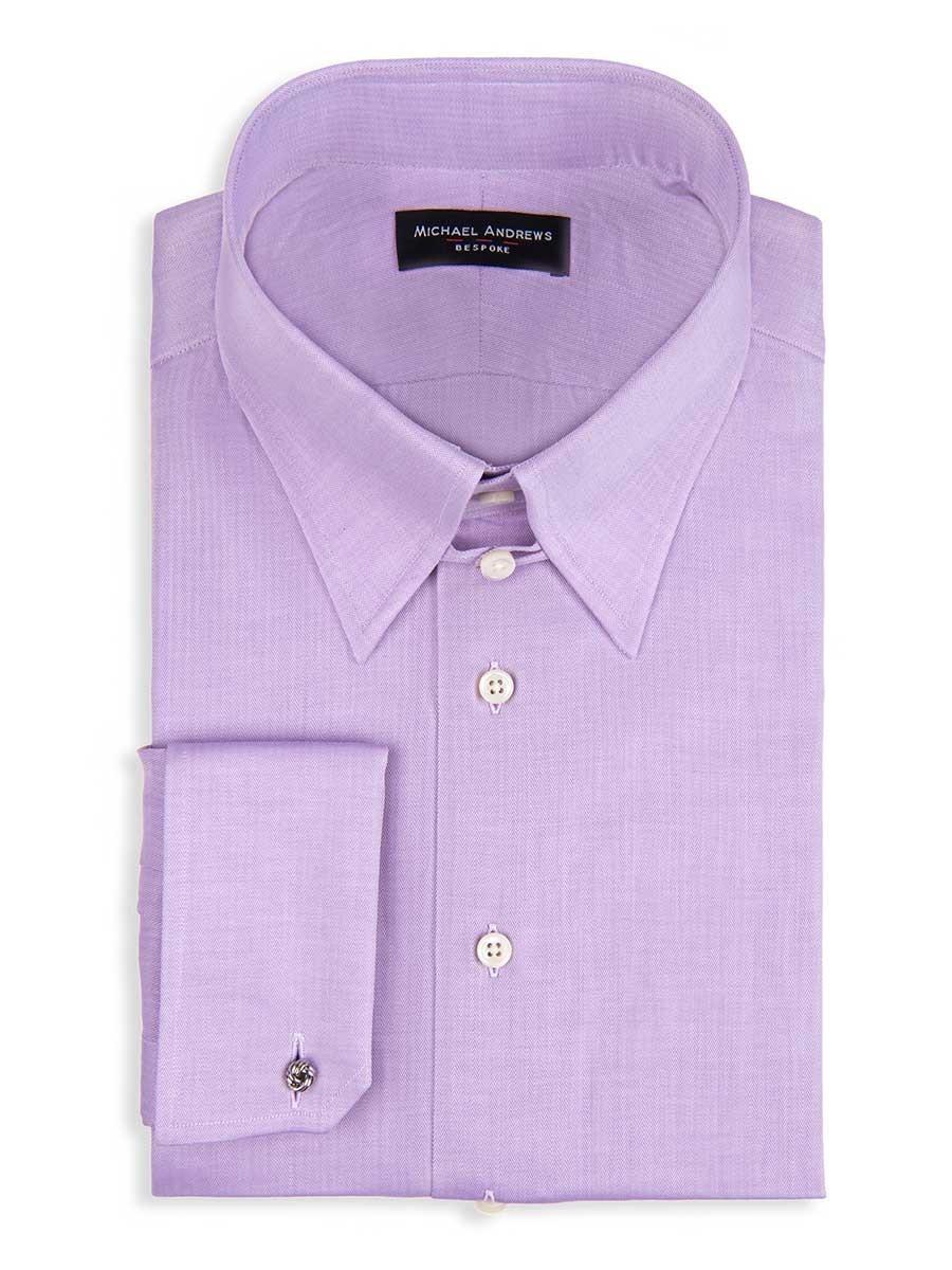 Lavender Zig Zag Tab Collar Shirt