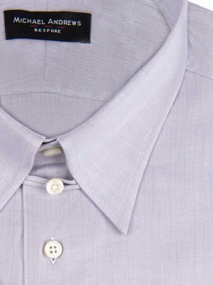 Ice Grey Zig Zag Tab Collar Shirt