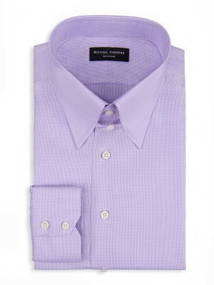 Lavender Micro Houndstooth Tab Collar Shirt
