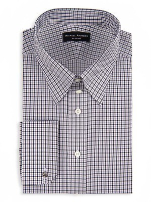 Charcoal & Tattersall Tab Collar Shirt