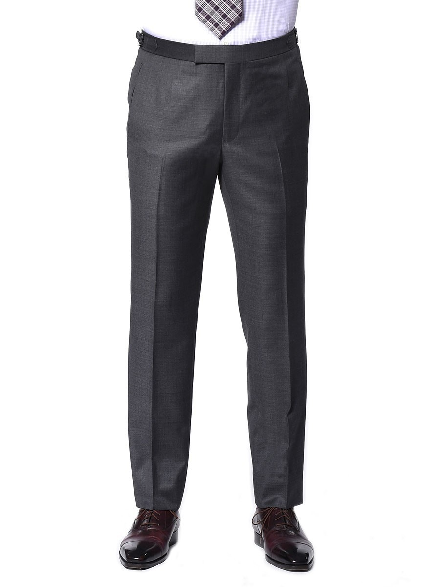 GREY PICK & PICK CLASSIC HOOK & EYE TROUSER