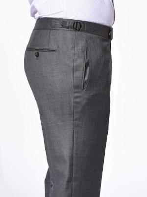 Grey Pick & Pick Classic Bespoke Trouser