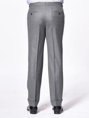 Steel Grey Flannel Classic Bespoke Trouser