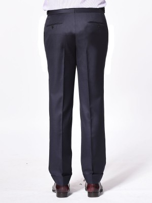 NAVY TWILL SIGNATURE HOOK & EYE TROUSER