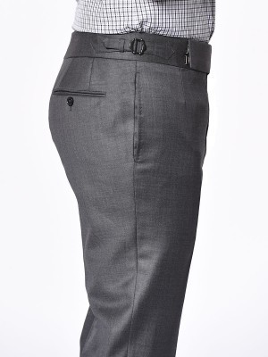 Medium Grey Pick & Pick Signature Bespoke Trouser