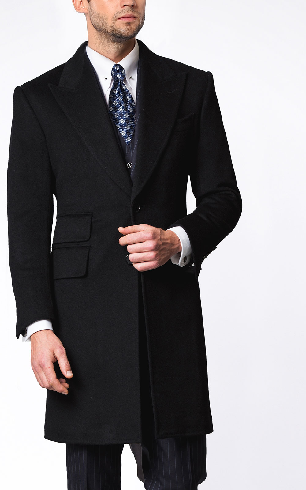 MIDNIGHT SIGNATURE 2-BUTTON OVERCOAT