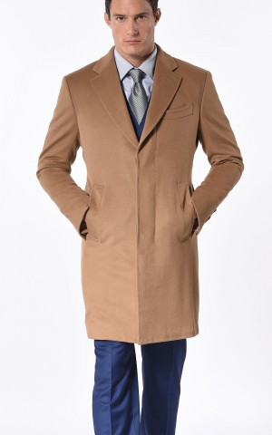 CAMEL PRUNELLE CLASSIC 3-BUTTON OVERCOAT