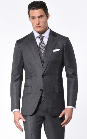 Medium Grey Pick & Pick Classic Bespoke Suit