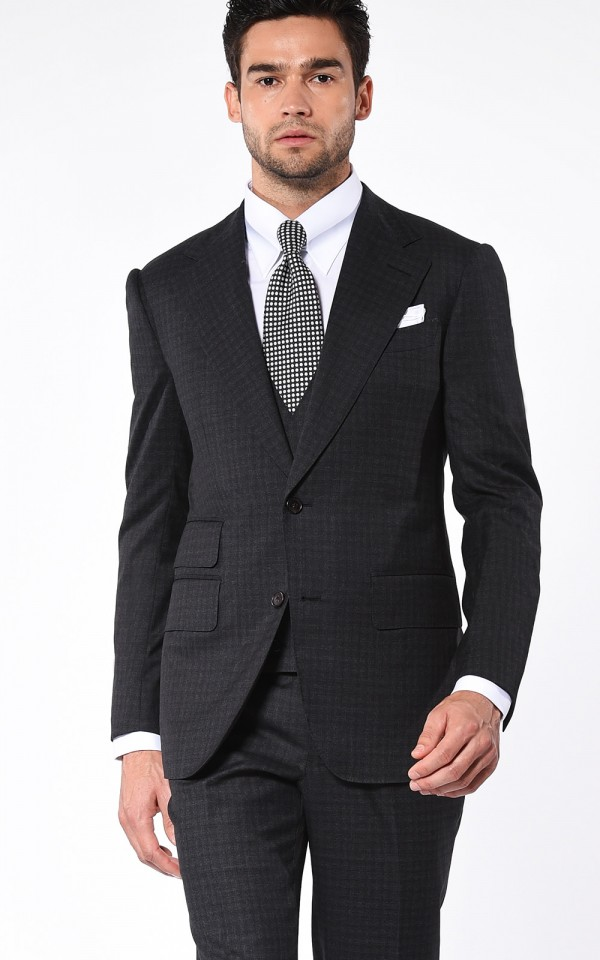 Charcoal Gun Check Signature Bespoke Suit