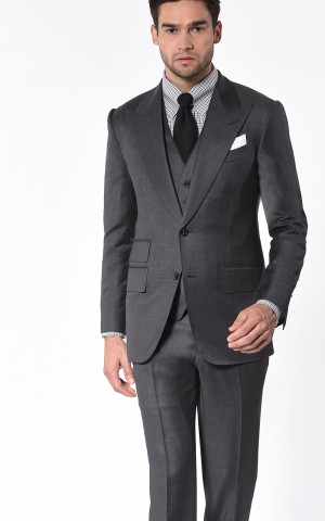Medium Grey Pick & Pick Signature Bespoke Suit