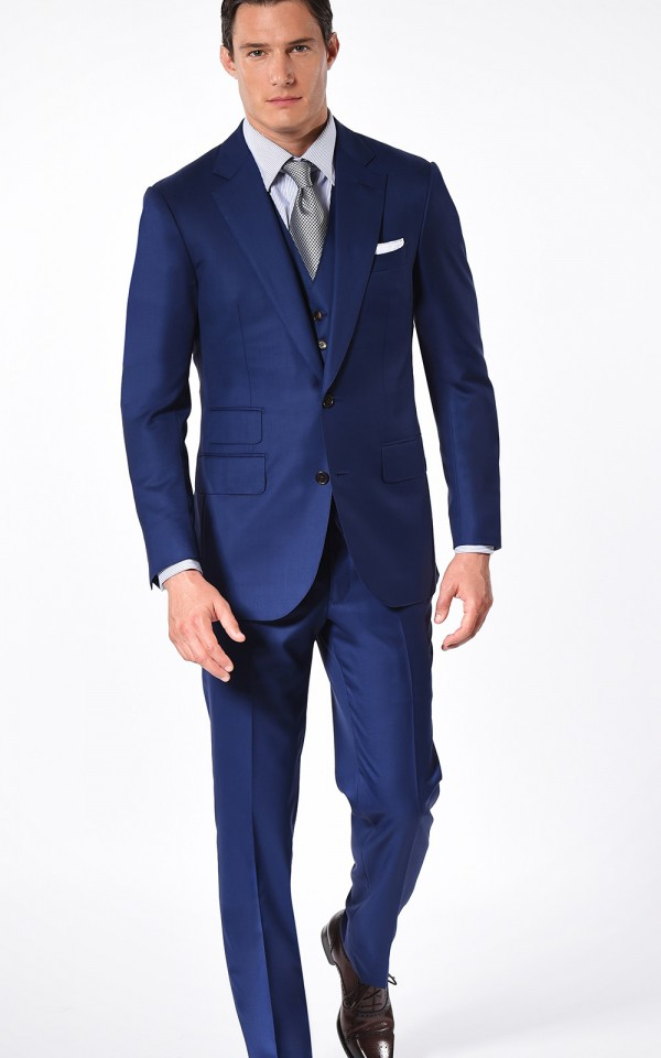 Royal Blue Super 110's Two-Button Bespoke Suit