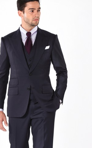 Navy Blue Signature Two-Button Bespoke Suit