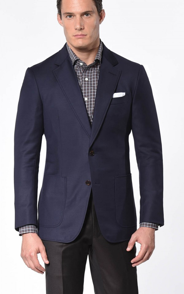 Navy Plain Weave Classic Bespoke Sport Coat