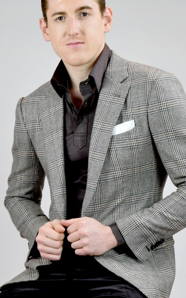 Light Brown Glen Plaid Bespoke Sport Coat