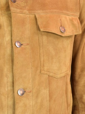 Tobacco Suede Bespoke Trucker Jacket