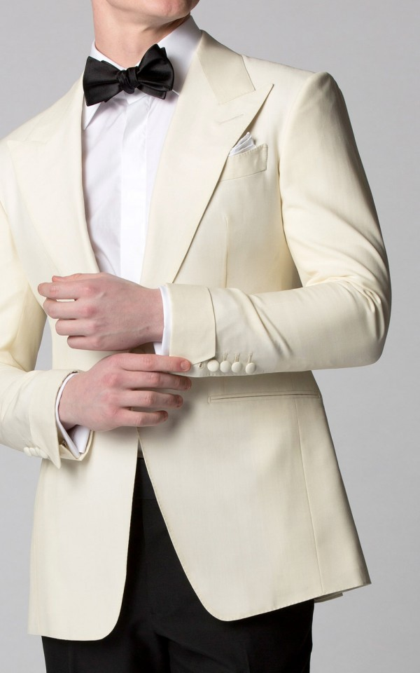 IVORY MOHAIR & SILK DINNER JACKET