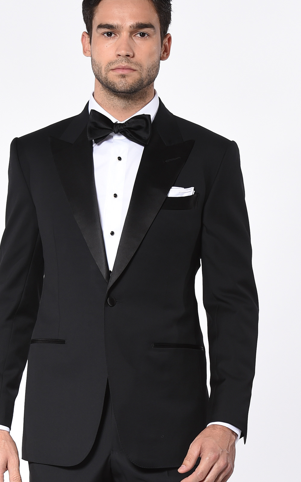 Black Classic Satin Bespoke Tuxedo