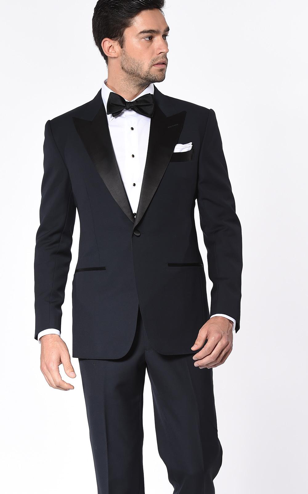 Midnight Barathea Classic Satin Bespoke Tuxedo