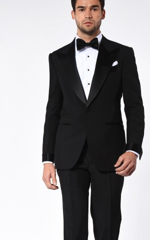 Black Tonik Mohair Signature Satin Bespoke Suit