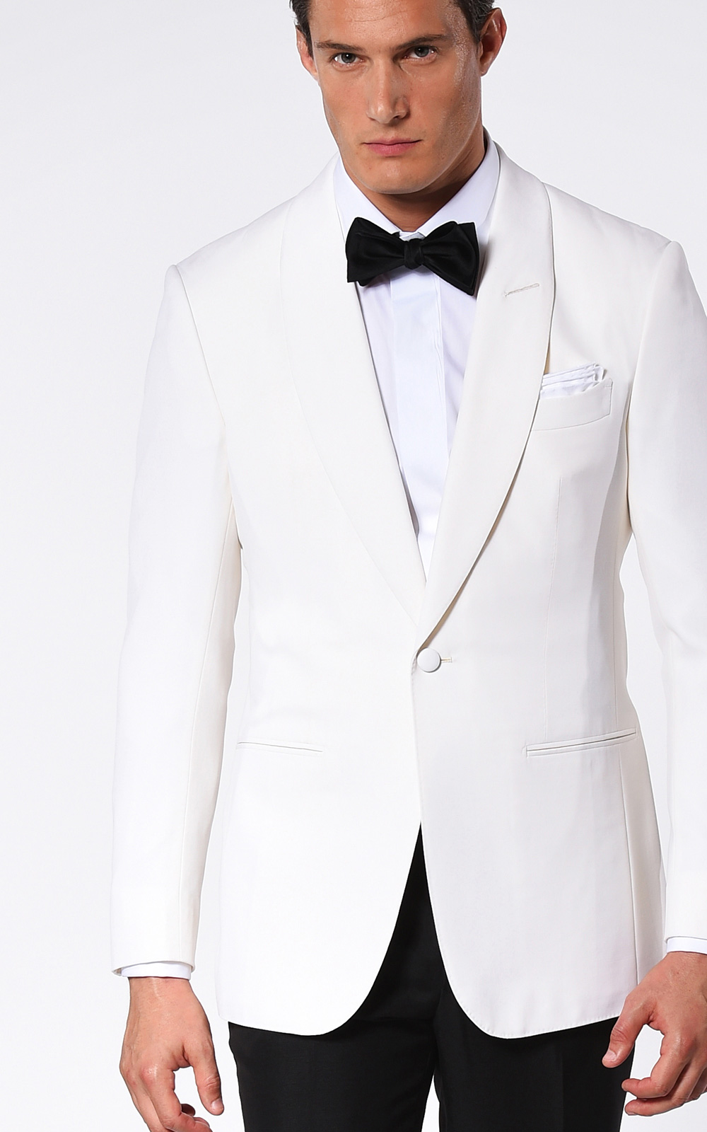 IVORY BARATHEA CLASSIC 1-BUTTON DINNER JACKET