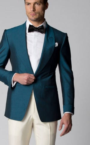 EMERALD MOHAIR & SILK DINNER JACKET