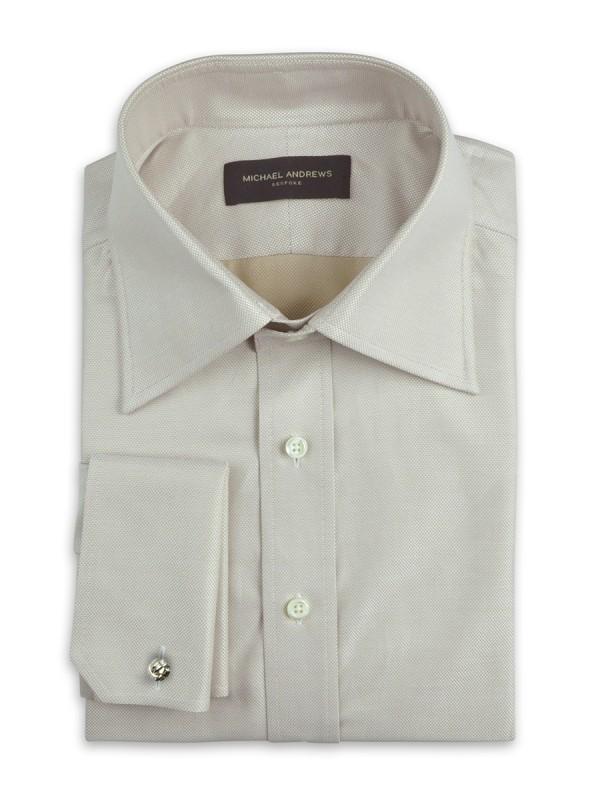 Beige Nailhead Italian Collar Shirt
