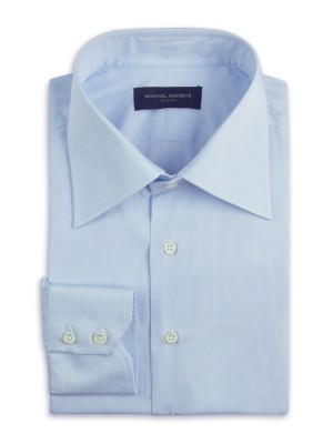 Light Blue Poplin Italian Collar Shirt