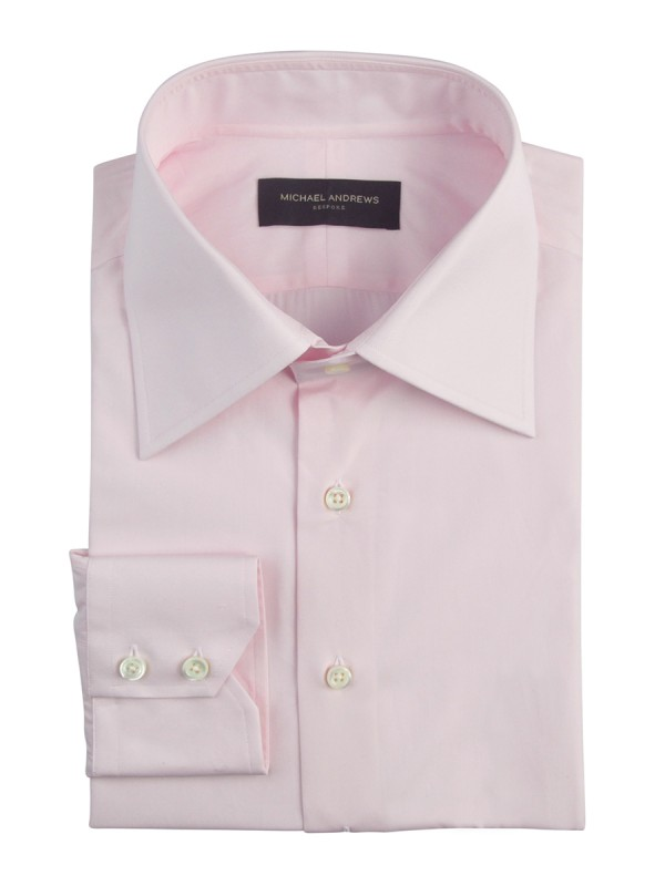Light Pink Poplin Italian Collar Shirt