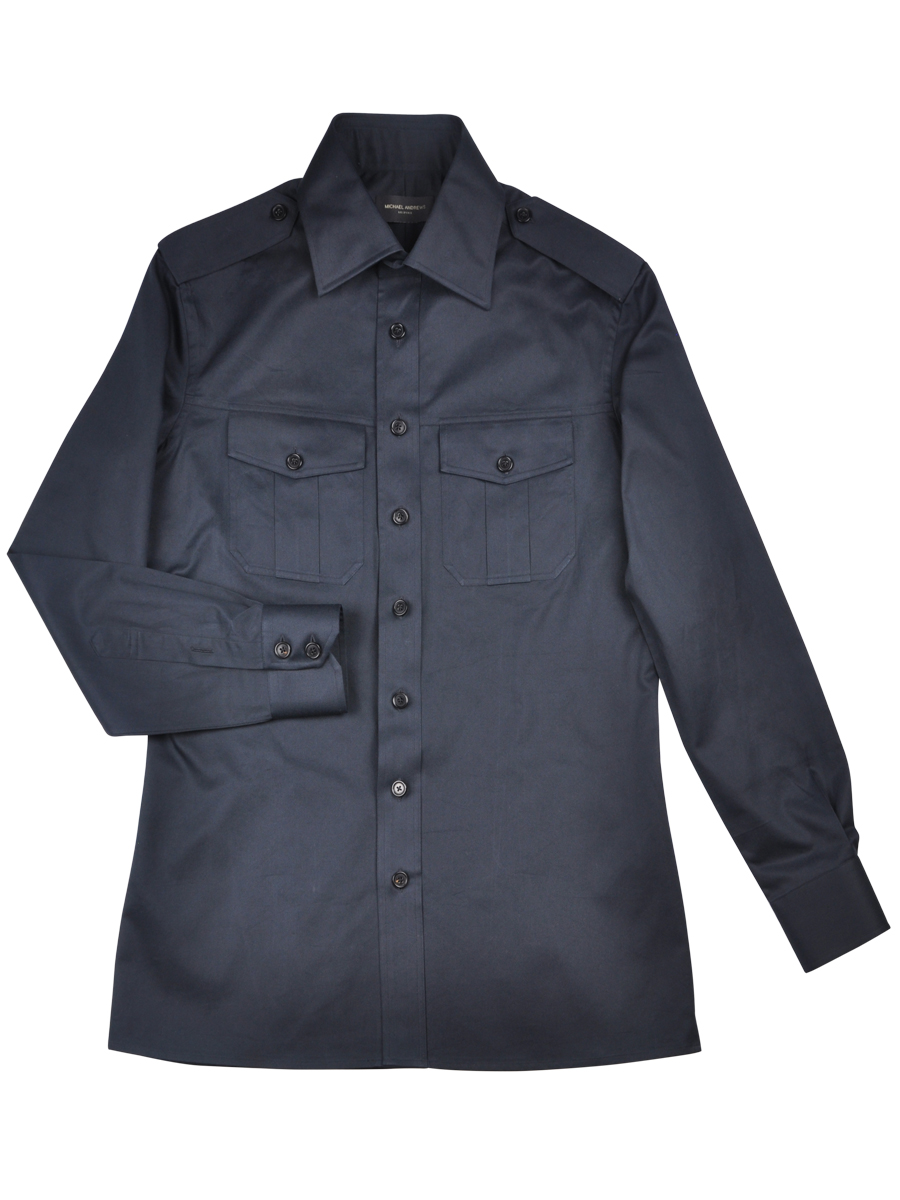 NAVY COTTON WORK SHIRT