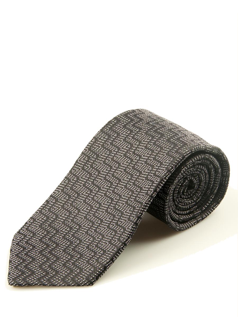 Charcoal and Purple Vertical Zig Zag Silk Tie