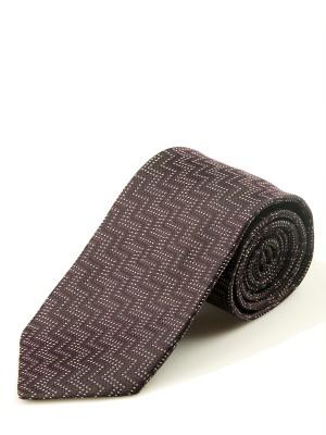 Dark Fuchsia Vertical Zig Zag Silk Tie