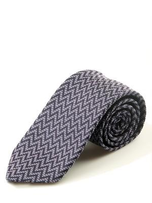 Lavender Horizontal Chevron Silk Tie