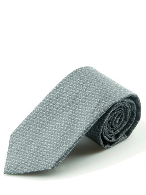 Grey Tonal 3d Dot Silk Tie