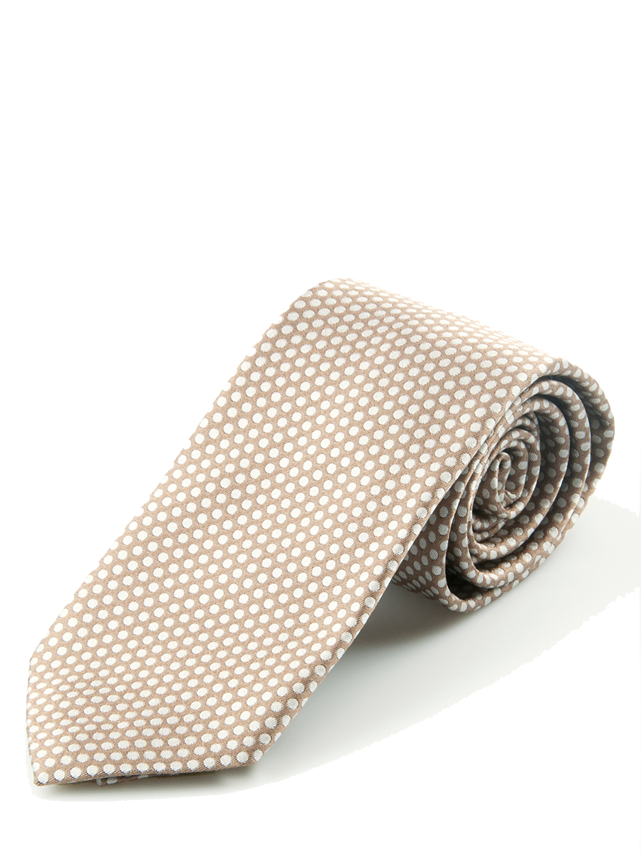 Taupe Graphic Close Dot Silk Tie