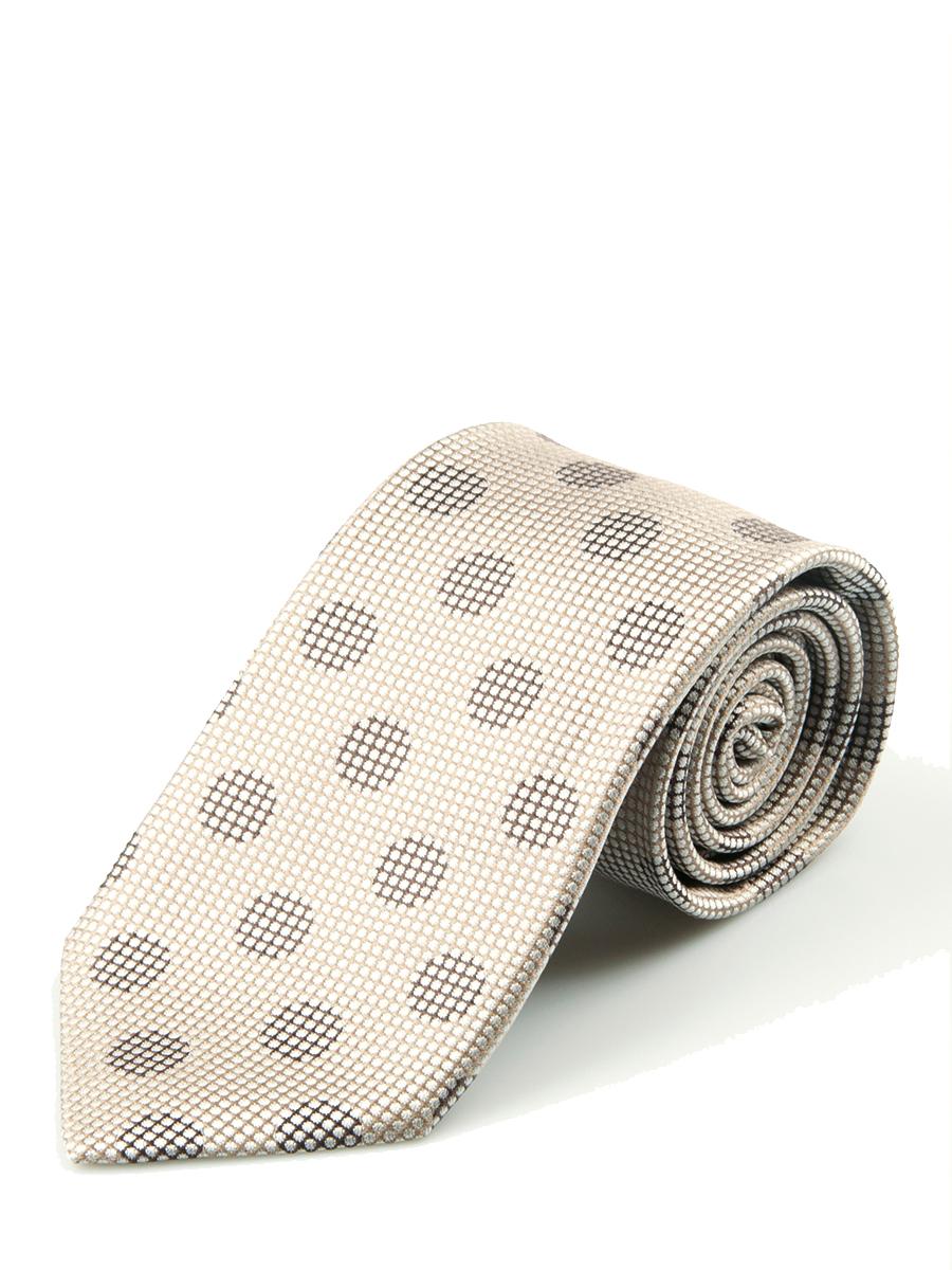 Taupe Tonal Macro Dot Silk Tie