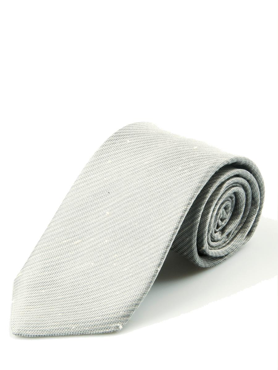 Dove Grey Shantung Slub Solid Necktie