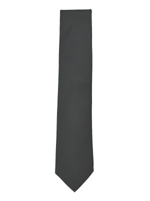 Charcoal Fine Twill Solid Silk Tie